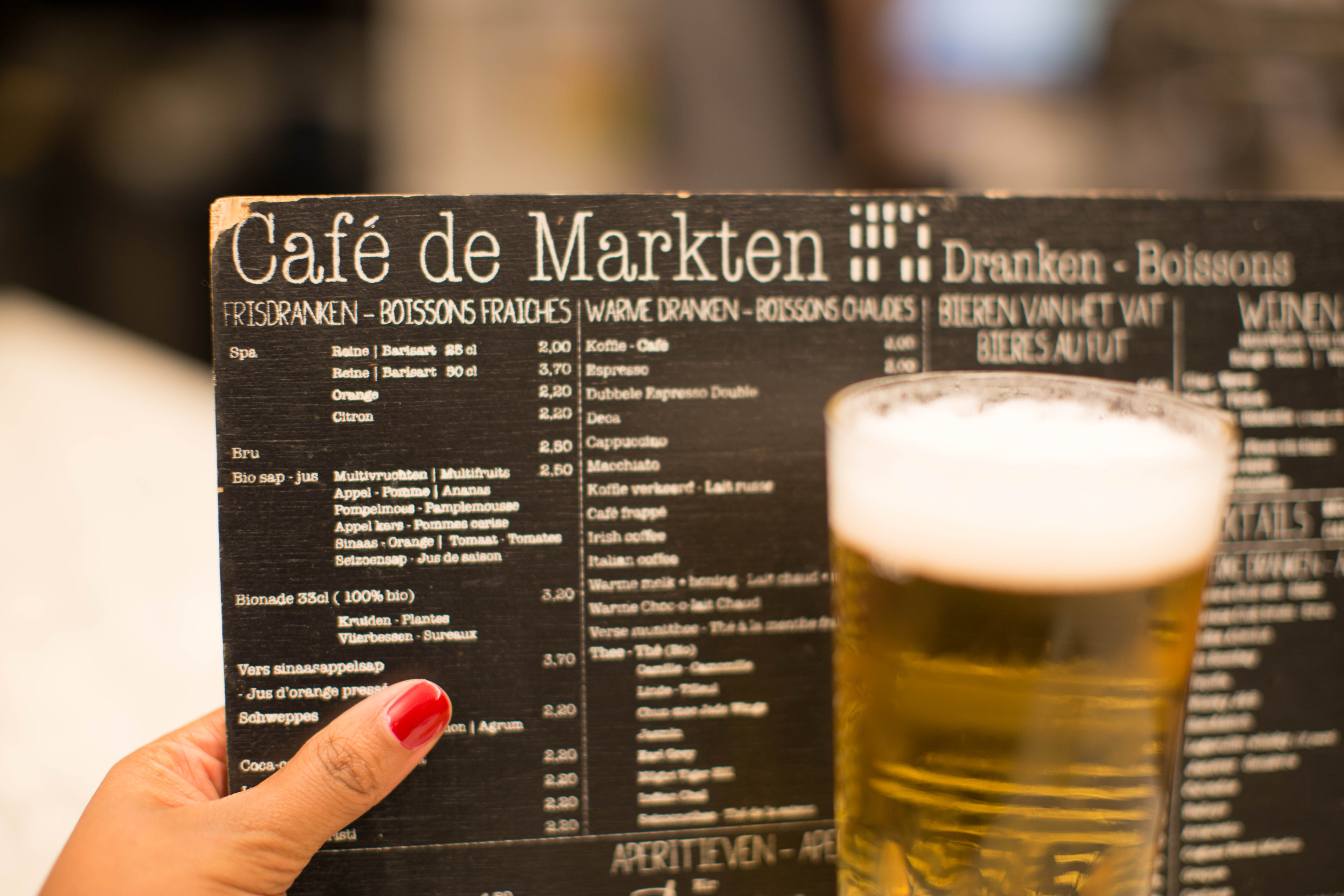 photo de la carte du Café de Markten