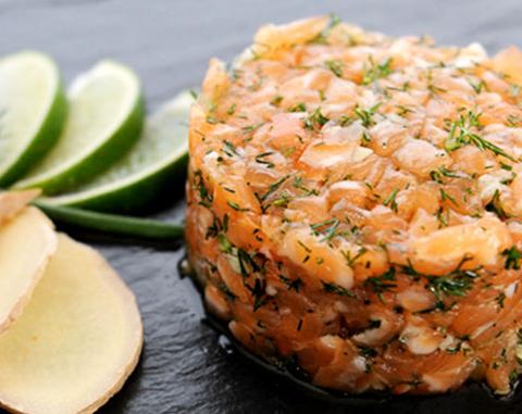 Recette du tartare de saumon aux pommes