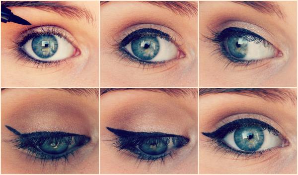 comment tracer un trait d 39 eyeliner sans se louper. Black Bedroom Furniture Sets. Home Design Ideas