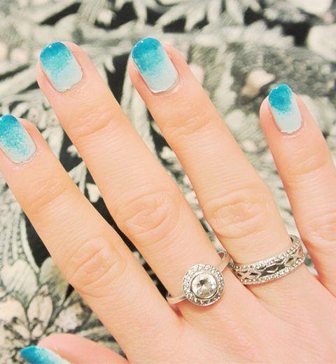 Le nail art tie & dye