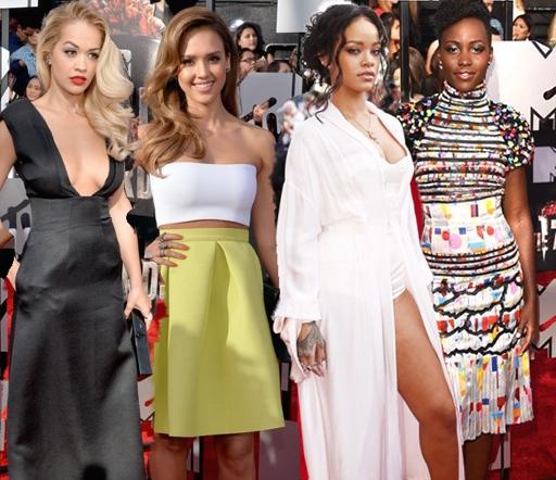 on-the-scene-rihanna-lupita-nyongo-rita-oraNicki-Minaj-MTV-Music-Awards-2014