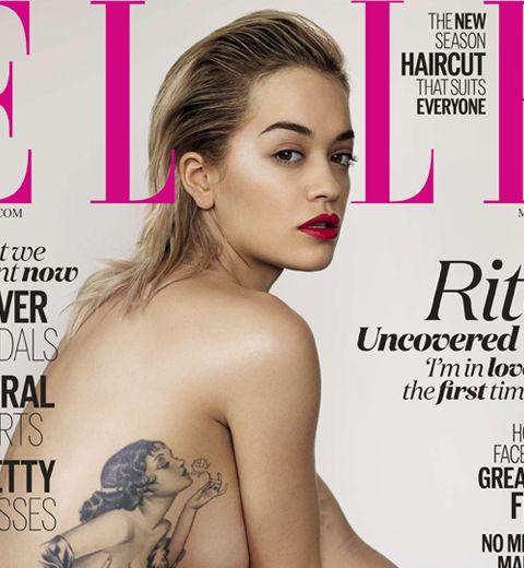 Rita Ora nue en cover du elle uk