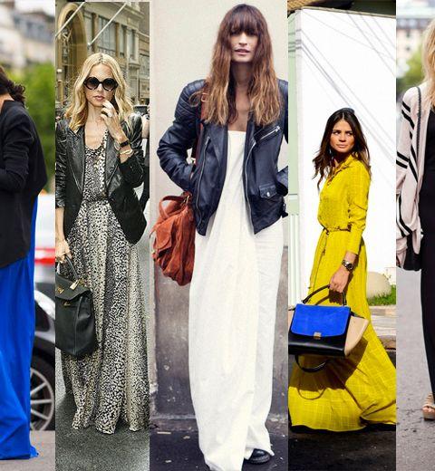 15 façons de porter la robe longue au printemps