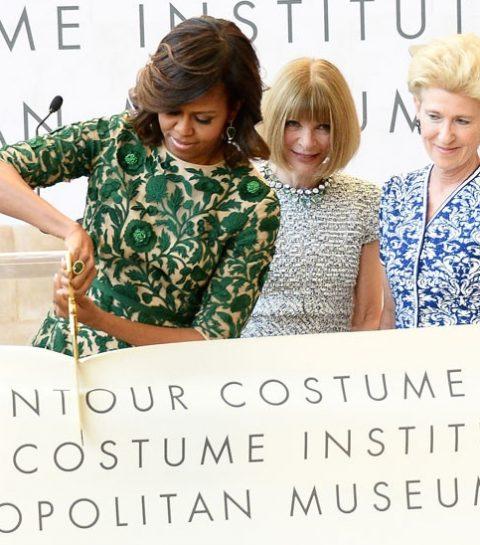 Michelle Obama inaugure le « Anna Wintour Costume Center »