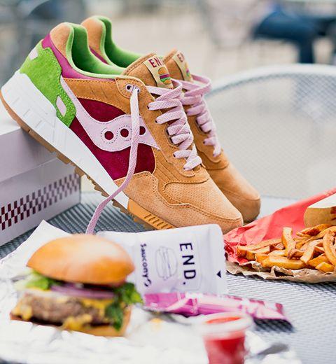 Des baskets hamburgers à croquer