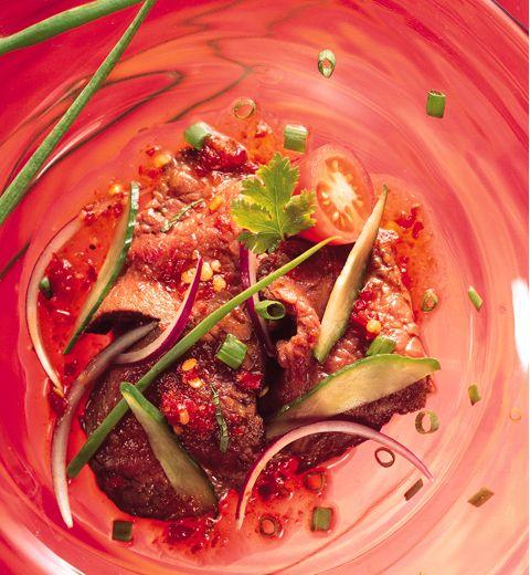 Recette de la salade de boeuf aux épices