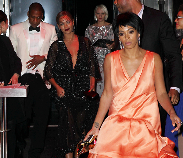 beyone, jay-z and solange after altercation