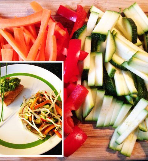 Saumon mariné et salade fraîcheur