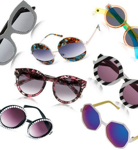 Shopping: 22 paires de lunettes de soleil décalées