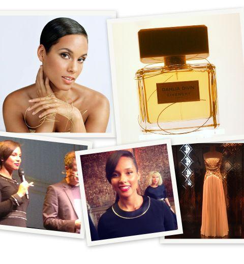 Alicia Keys égérie du parfum Dahlia Divin de Givenchy