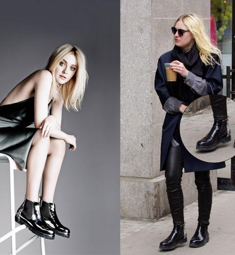 Les boots AGL de Dakota Fanning