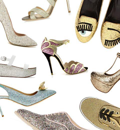 10 paires de chaussures à paillettes pour faire la fête