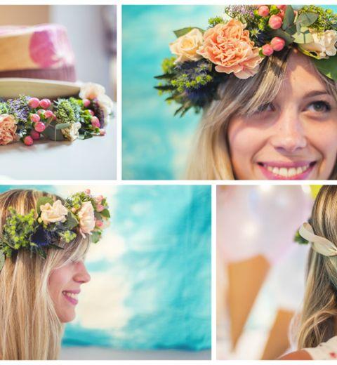 DIY: une superbe couronne de fleurs