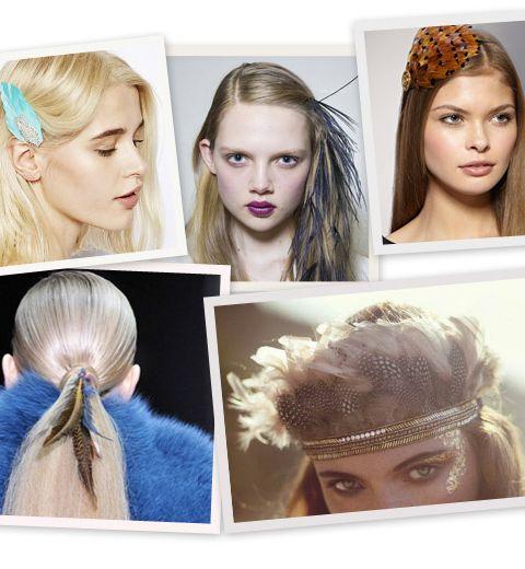 12 idées pour porter des plumes dans vos cheveux