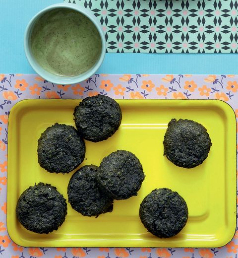 Recette de falafels aux épinards, sauce aux herbes