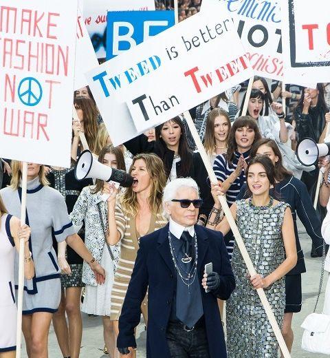 La manif' féministe de Chanel