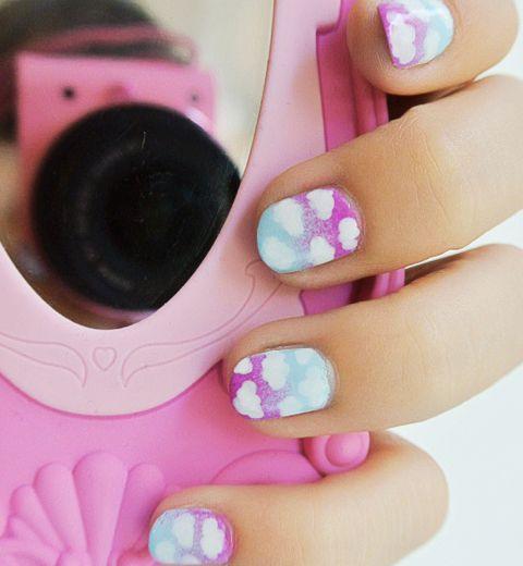On a testé Le nail art «Nuages» de Glam Elfi