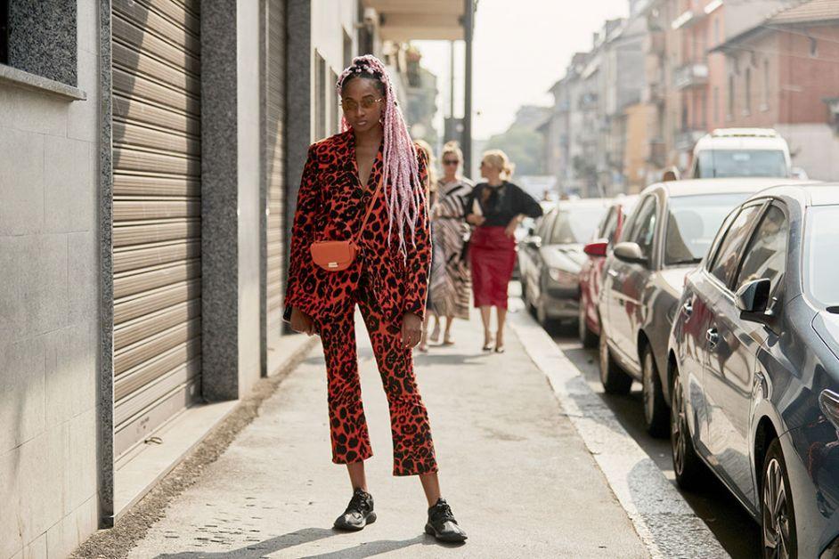 costume léopard rouge