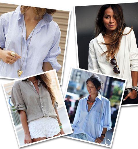 Comment porter avec style la chemise de son mec  - ELLE.be ee74a1f1381