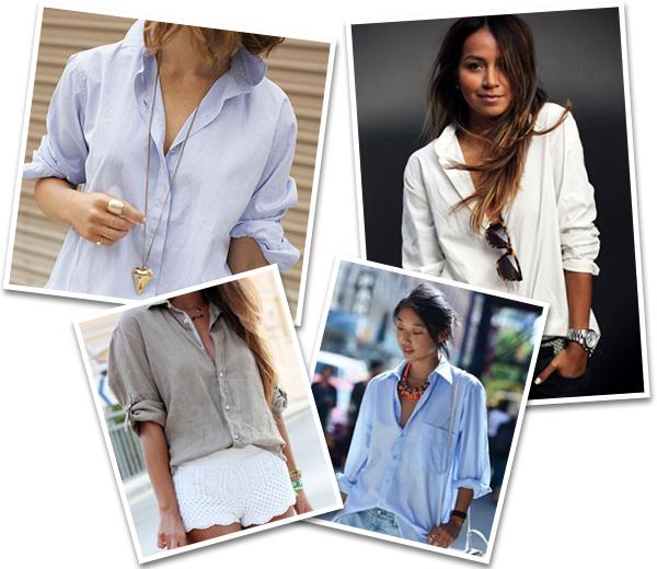 Comment porter avec style la chemise de son mec - Comment porter une chemise femme ...