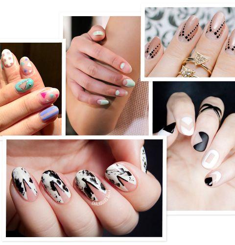 10 negative nails art