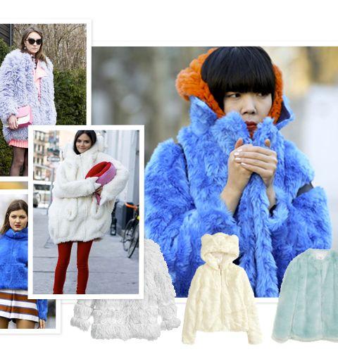 Comment porter le manteau peluche?