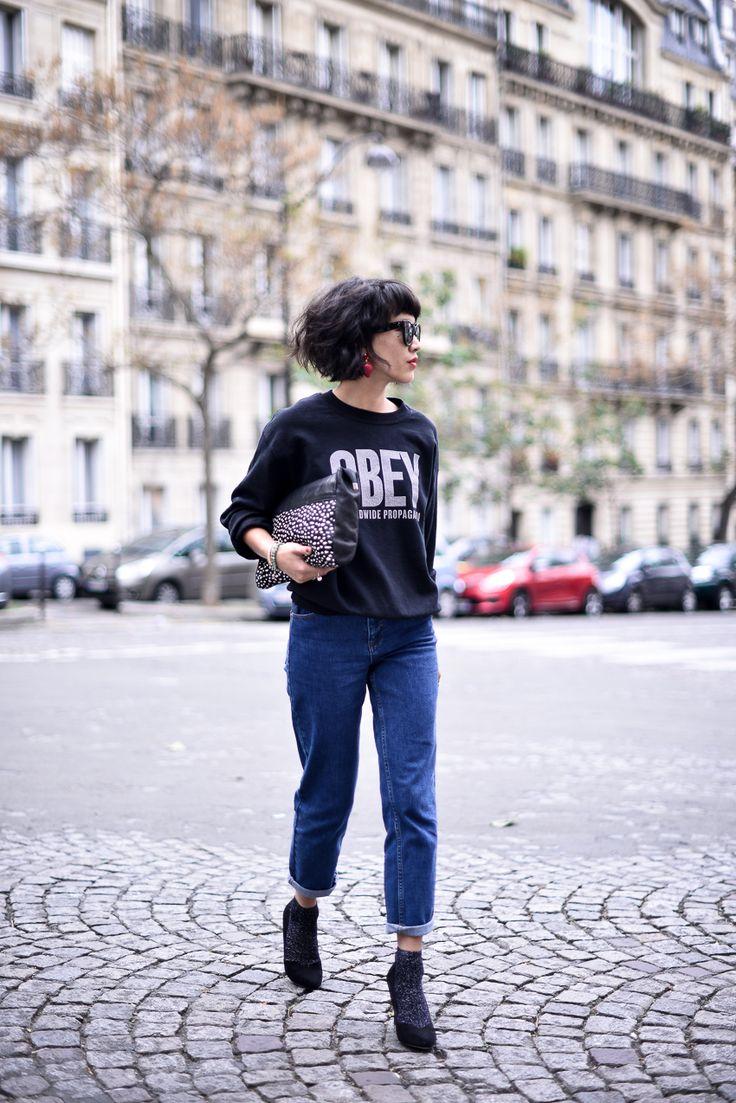 Avec un jeans retroussé pour un look vintage (trouvé sur ledressingdeleeloo.blogspot.fr)