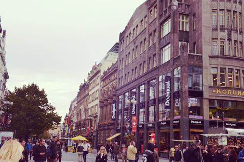 """La rue Na Prikope, la """"rue neuve"""" locale"""