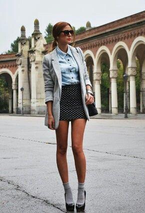 Accordées à la veste pour un look classe (trouvé sur Brenna M.)