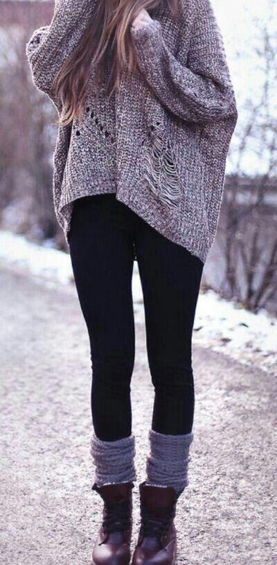 Accordées à un pull oversized pour un look ultra cosy (trouvé sur Yami Gomez)