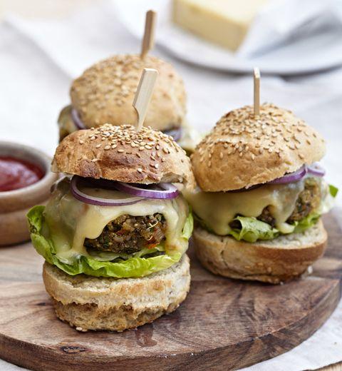 Végéburgers au quinoa et au fromage Raclette du Valais AOP