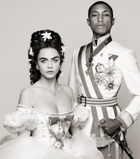 Cara Delevingne et Pharrell Williams pour Chanel