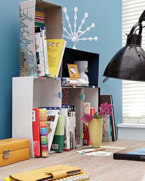 diy-home-office-organization-desk-boxes-binder-clips-books