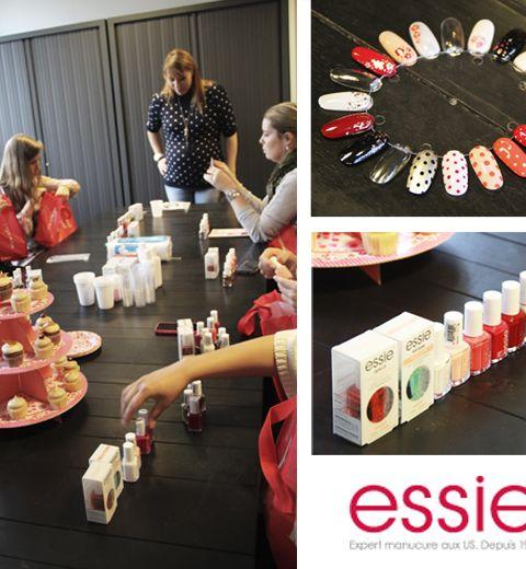 Le workshop nail art Essie à la rédac