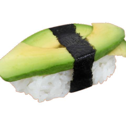 Sushi à l'avocat et au king crabe