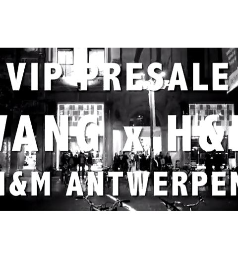 Alexander Wang x H&M : la vidéo de la soirée presale