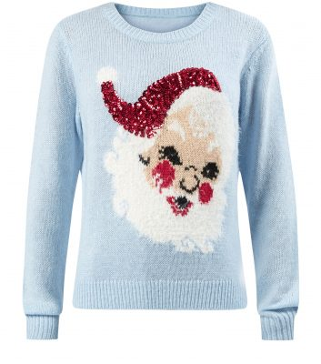 Pale-Blue-Sequin-Santa-Christmas-Jumper£24.99