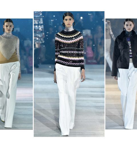 Le pantalon blanc de la collection pre fall Dior