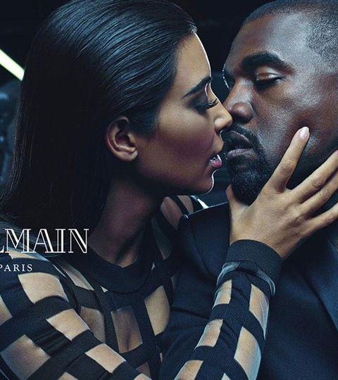 Kim & Kanye nouveaux visages de Balmain