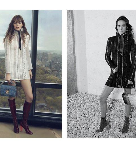 Freja Beha et Jennifer Connelly pour Louis Vuitton