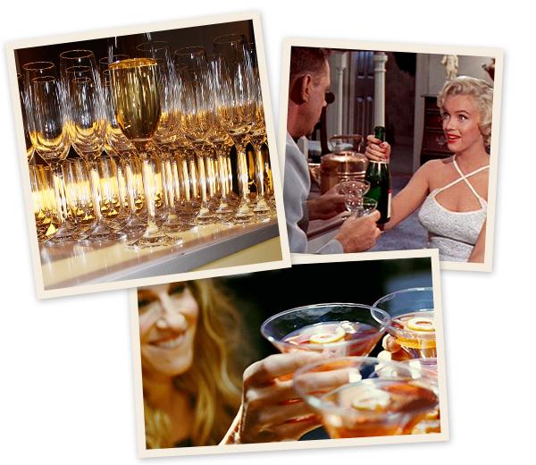 5 cocktails base de champagne. Black Bedroom Furniture Sets. Home Design Ideas