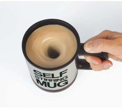 La tasse avec mélangeur auto-agitation En acier inoxydable, le modèle est disponible en bleu, en jaune, en blanc, en noir, en rouge et en vert. EUR 7,29 [AMAZON.be]