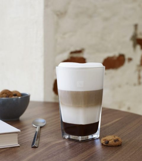 Café Latte aux chocolate chip cookies