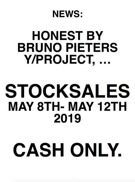 Ventes de stocks Honest By