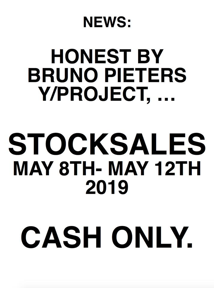 Ventes de stocks Honest By