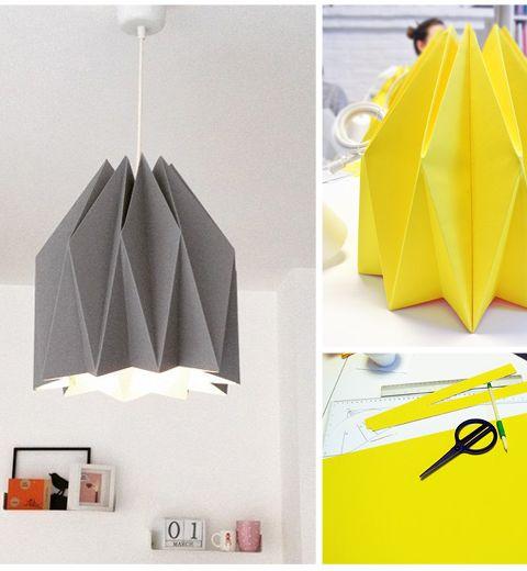 L'atelier lampe en origami par BE CRAFTY