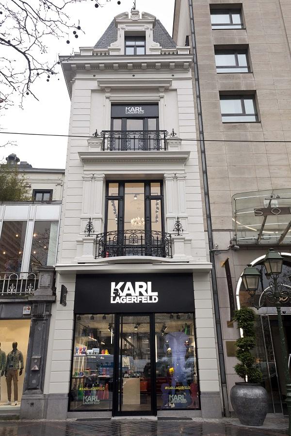 ouverture d 39 un concept shop karl lagerfeld bruxelles. Black Bedroom Furniture Sets. Home Design Ideas