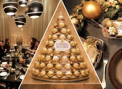Revivez le Golden Dinner de ELLE x Ferrero Rocher