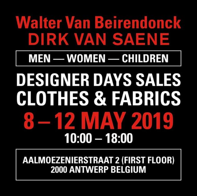 Ventes de stocks Walter Van Beirendonck et Dirk Van Saene
