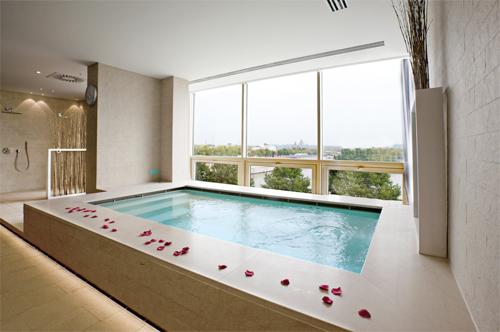 La piscine avec vue sur Bruxelles
